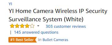 Best seller in surveillance security system