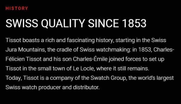 Tissot History