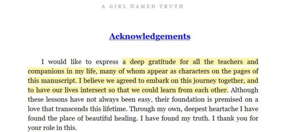 A girl named truth