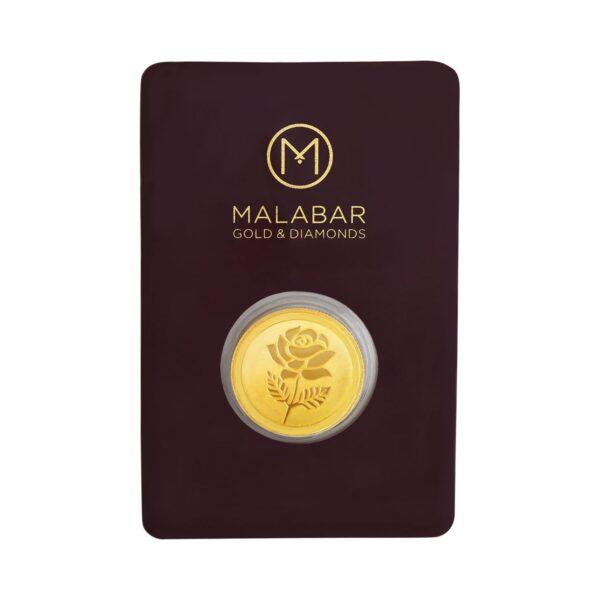 Malabar Gold & Diamonds 22k (916) 10 gm Yellow Gold Coin