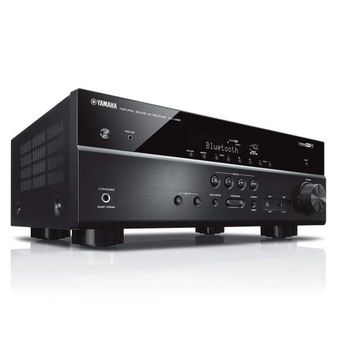 Yamaha RX-V485BL 5.1-Channel 4K Ultra HD AV Receiver with MusicCast