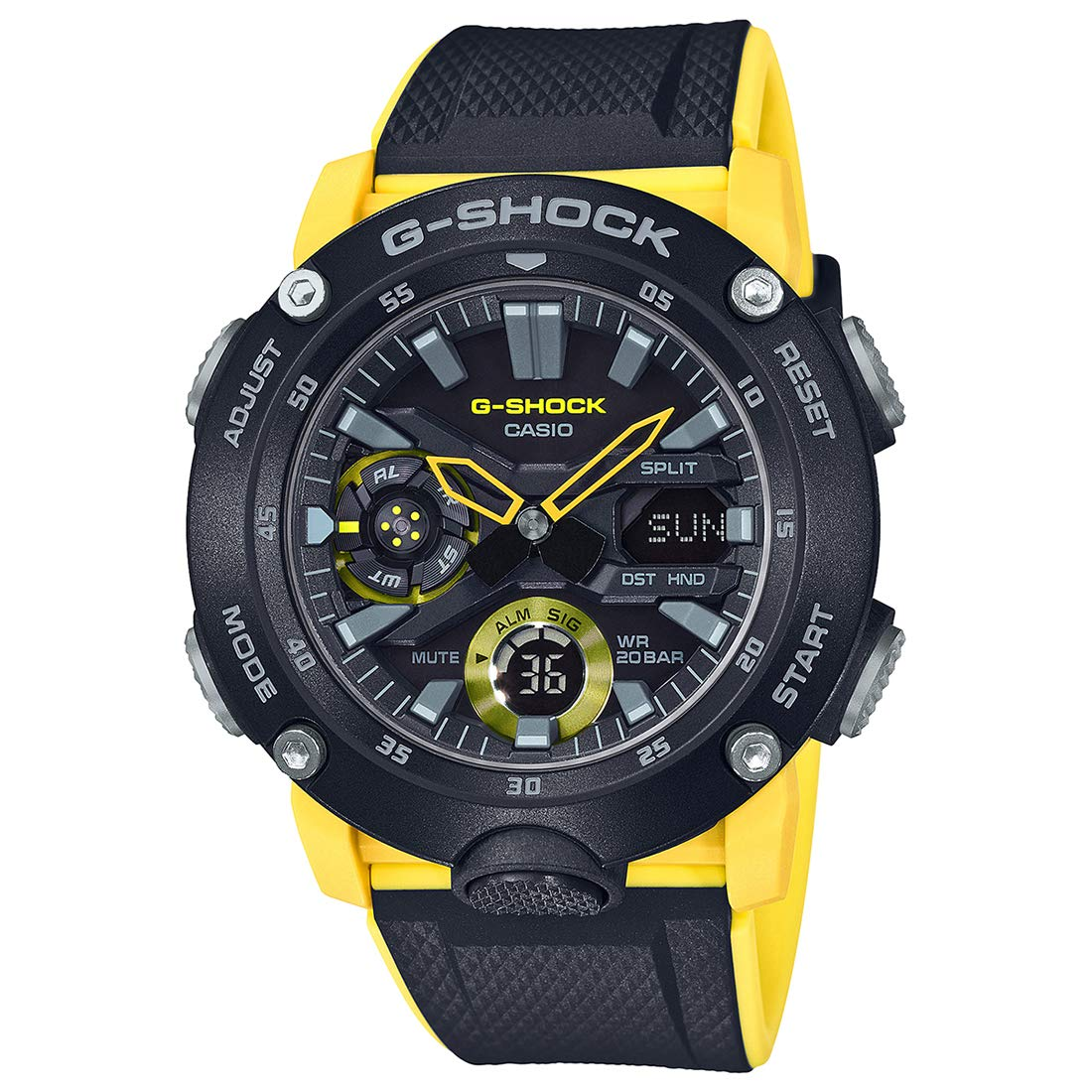 Casio G-Shock Analog-Digital Black Dial Men's Watch-GA-2000-1A9DR (G943)