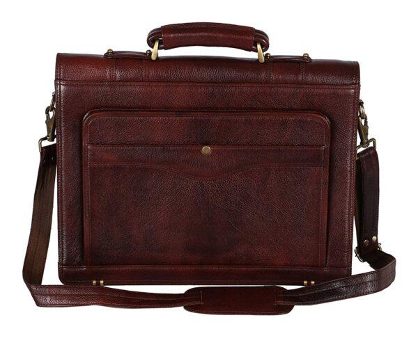 LV 100% Genuine Leather 17'' Laptop Men's Briefcase Bag