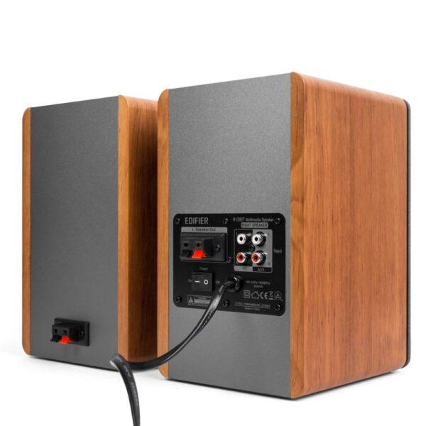 Edifier R1280T Bookshelf Speaker (Brown and Black)