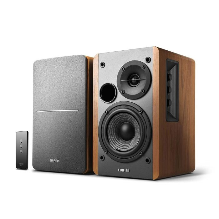 Edifier R1280T Bookshelf Speaker (Brown and Black)