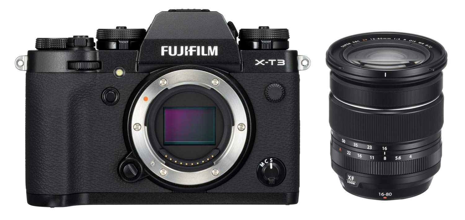 Fujifilm X-T3 26 MP Mirrorless Camera Body with XF 16-80mm Lens