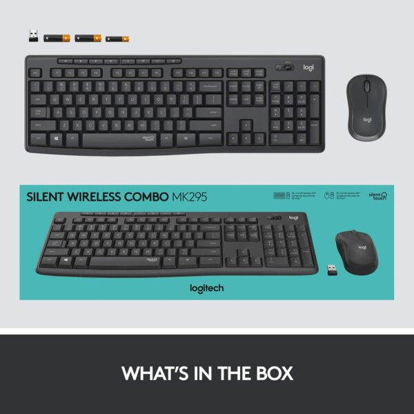 Logitech MK295 Wireless Keyboard and Mouse Combo - SilentTouch Technology