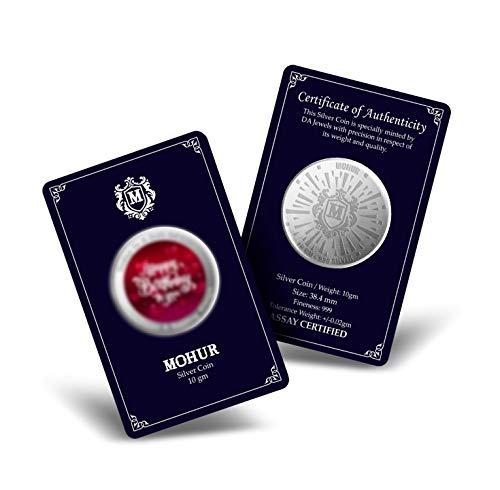 MOHUR 20 Gm, 999 PEACOCK Precious Color Silver Coin